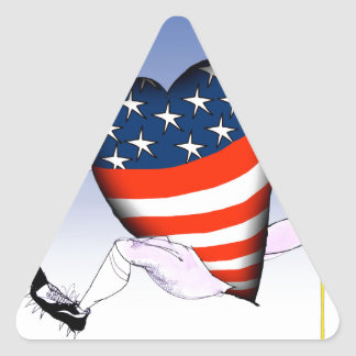Adesivo Triangular fernandes tony altos e orgulhosos de michigan,