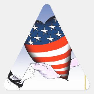Adesivo Triangular fernandes tony altos e orgulhosos de nebraska,
