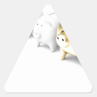 Adesivo Triangular Fileira com mealheiros