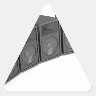 Adesivo Triangular Fileira dos auto-falante