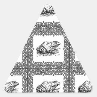 Adesivo Triangular fileiras dos sapos