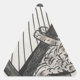 Adesivo Triangular Filhote de cachorro da harpa