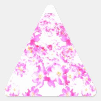 Adesivo Triangular Flor cor-de-rosa do Dogwood