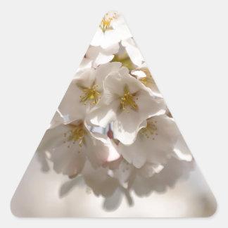 Adesivo Triangular Flor de cerejeira