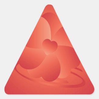 Adesivo Triangular Flor dos corações