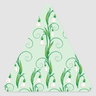 Adesivo Triangular Flores brancas de Snowdrop
