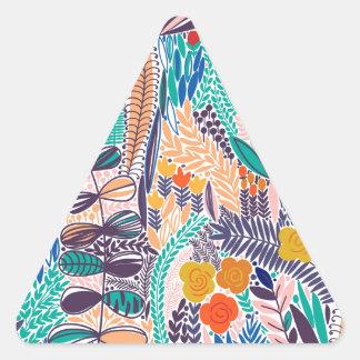 Adesivo Triangular Flores do jardim da mística