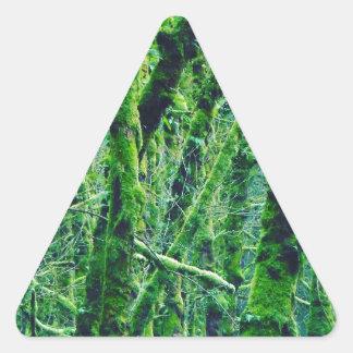 Adesivo Triangular Floresta verde