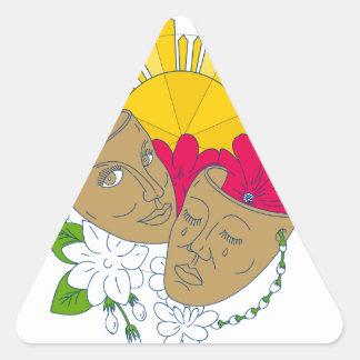 Adesivo Triangular Fluxo filipino de Sampaguita do hibiscus de Sun da