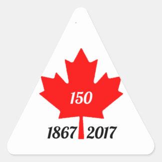 Adesivo Triangular Folha de bordo de Canadá 150 em 2017