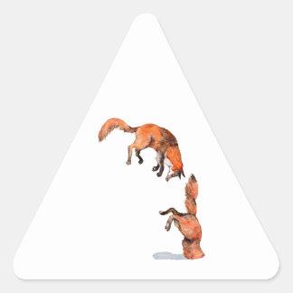 Adesivo Triangular Fox vermelho de salto