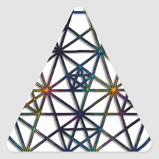 Adesivo Triangular Fractal sagrado da geometria da abundância da vida