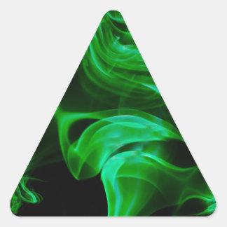 Adesivo Triangular Fractal verde do cetim