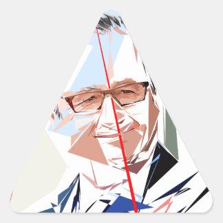 Adesivo Triangular François Hollande