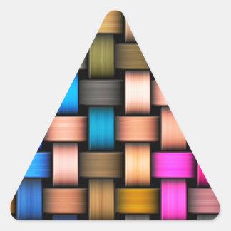 Adesivo Triangular Fundo abstrato entrelaçado