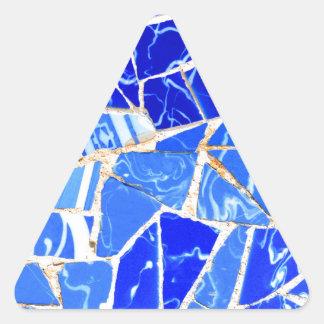 Adesivo Triangular Fundo azul abstrato