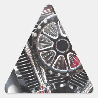 Adesivo Triangular Fundo cromado motocicleta do detalhe do motor