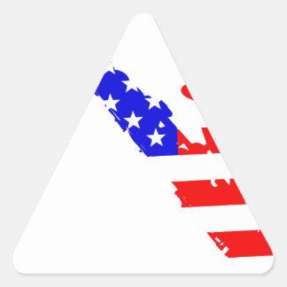 Adesivo Triangular Fundo da bandeira do saxofone