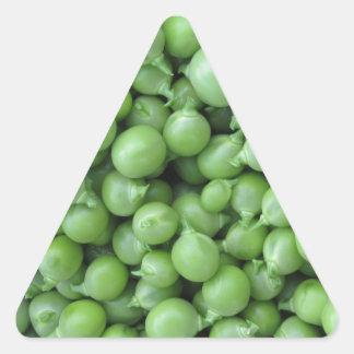 Adesivo Triangular Fundo da ervilha verde. Textura de ervilhas verdes