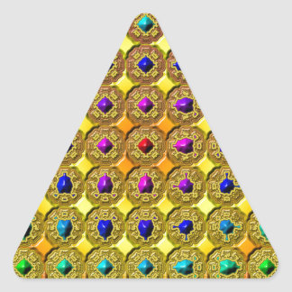 Adesivo Triangular Fundo de pedra preciosa