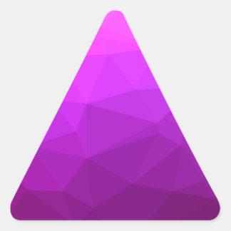Adesivo Triangular Fundo do polígono do abstrato bizantino do roxo