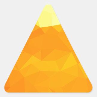 Adesivo Triangular Fundo do polígono do abstrato do amarelo do Cyber
