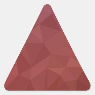 Adesivo Triangular Fundo do polígono do abstrato do roxo do amaranto