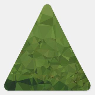 Adesivo Triangular Fundo do polígono do abstrato do verde da