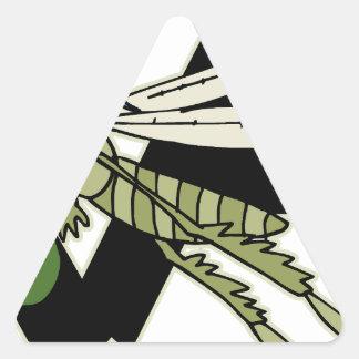 Adesivo Triangular Gafanhoto da armadilha
