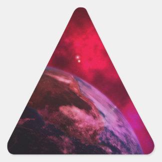 Adesivo Triangular Galáxia roxa 2 - purple galaxy