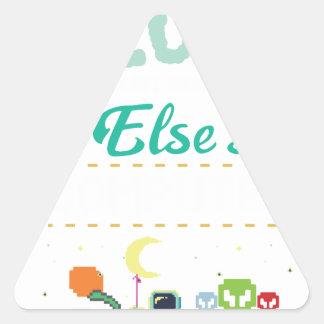 Adesivo Triangular Gamer do amante do computador engraçado ELE