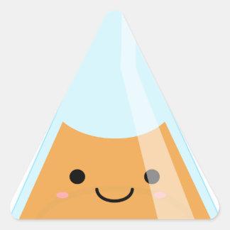 Adesivo Triangular Garrafa alaranjada bonito do kawaii da alquimia