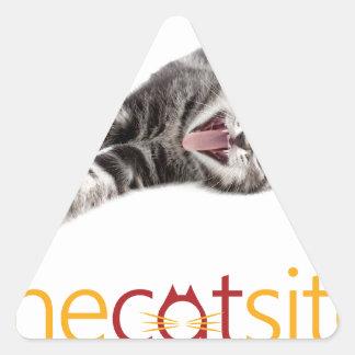 Adesivo Triangular Gato de bocejo ou de riso