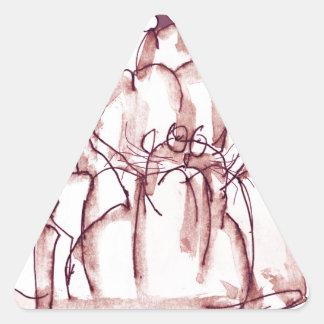 Adesivo Triangular gato do jello da cola dos fernandes tony