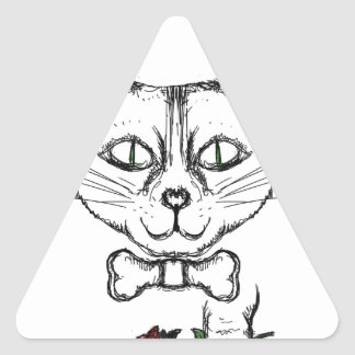 Adesivo Triangular Gato sofisticado
