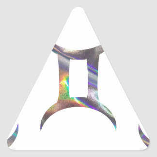 Adesivo Triangular Gêmeos do holograma