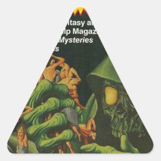 Adesivo Triangular Ghoul verde gigante