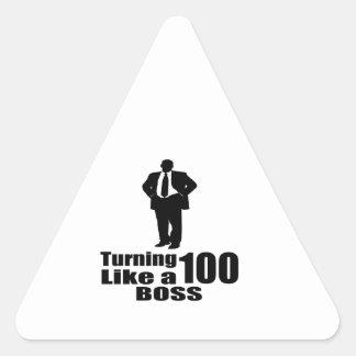 Adesivo Triangular Girando 100 como um chefe