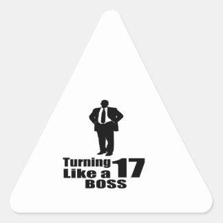 Adesivo Triangular Girando 17 como um chefe