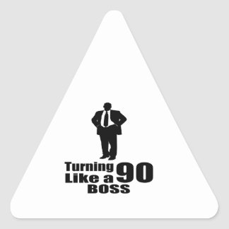 Adesivo Triangular Girando 90 como um chefe
