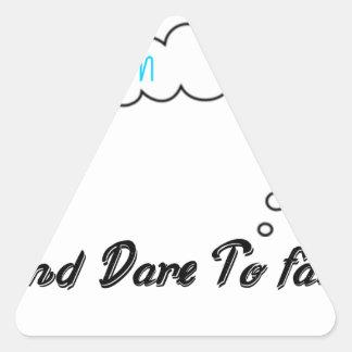 Adesivo Triangular Grande ideal e desafio a falhar