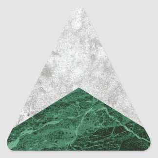 Adesivo Triangular Granito concreto #412 do verde da seta