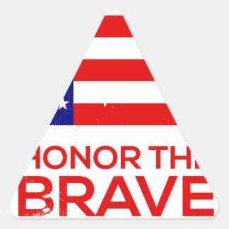 Adesivo Triangular Grunge do Memorial Day