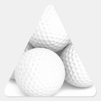 Adesivo Triangular Grupo de bolas de golfe