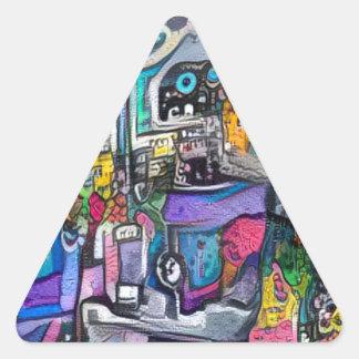 Adesivo Triangular Grupo de rock abstrato