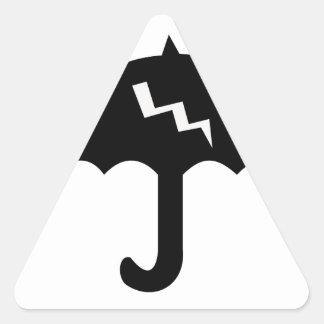 Adesivo Triangular guarda-chuva e iluminação