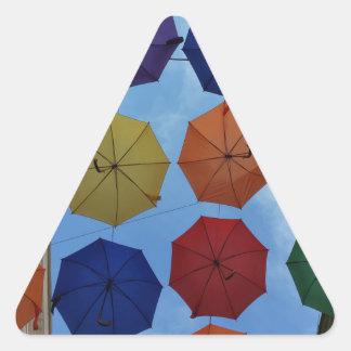 Adesivo Triangular Guarda-chuvas coloridos