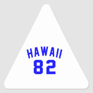 Adesivo Triangular Havaí 82 designs do aniversário