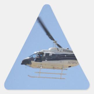 Adesivo Triangular Helicóptero
