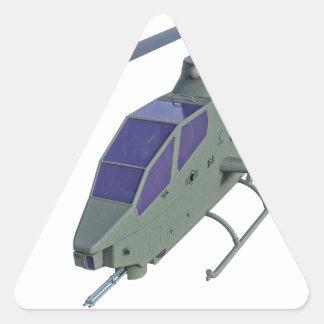 Adesivo Triangular Helicóptero de Apache na vista dianteira